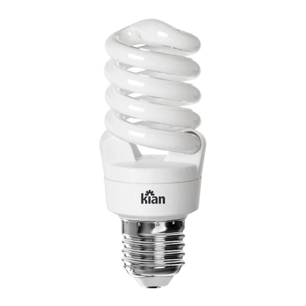 Lâmpada CFL Espiral T2 15W Branca Fria 6400K E27 220-240V