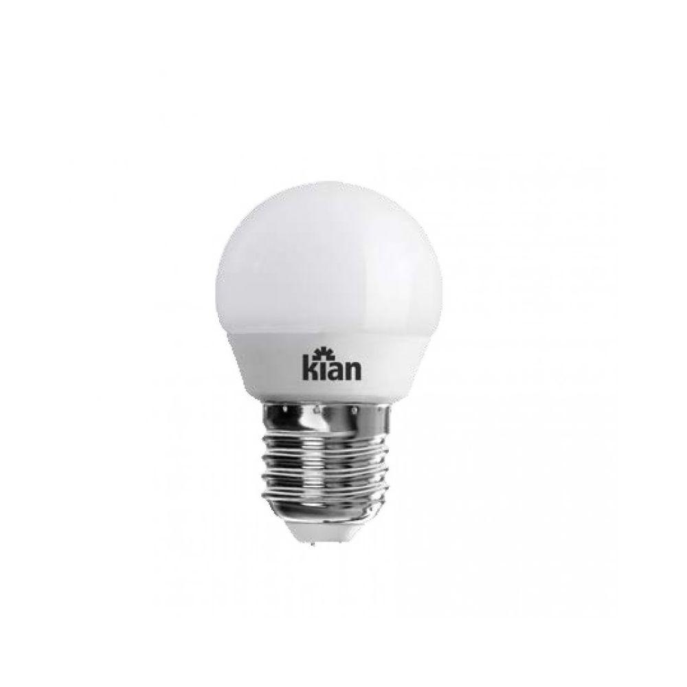 Lâmpada Kian LED Bolinha 4,8W Branca Morna 3000K E27 100-240V