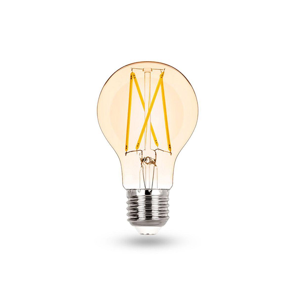 Lâmpada Filamento LED A60 2700K E27 100-240V