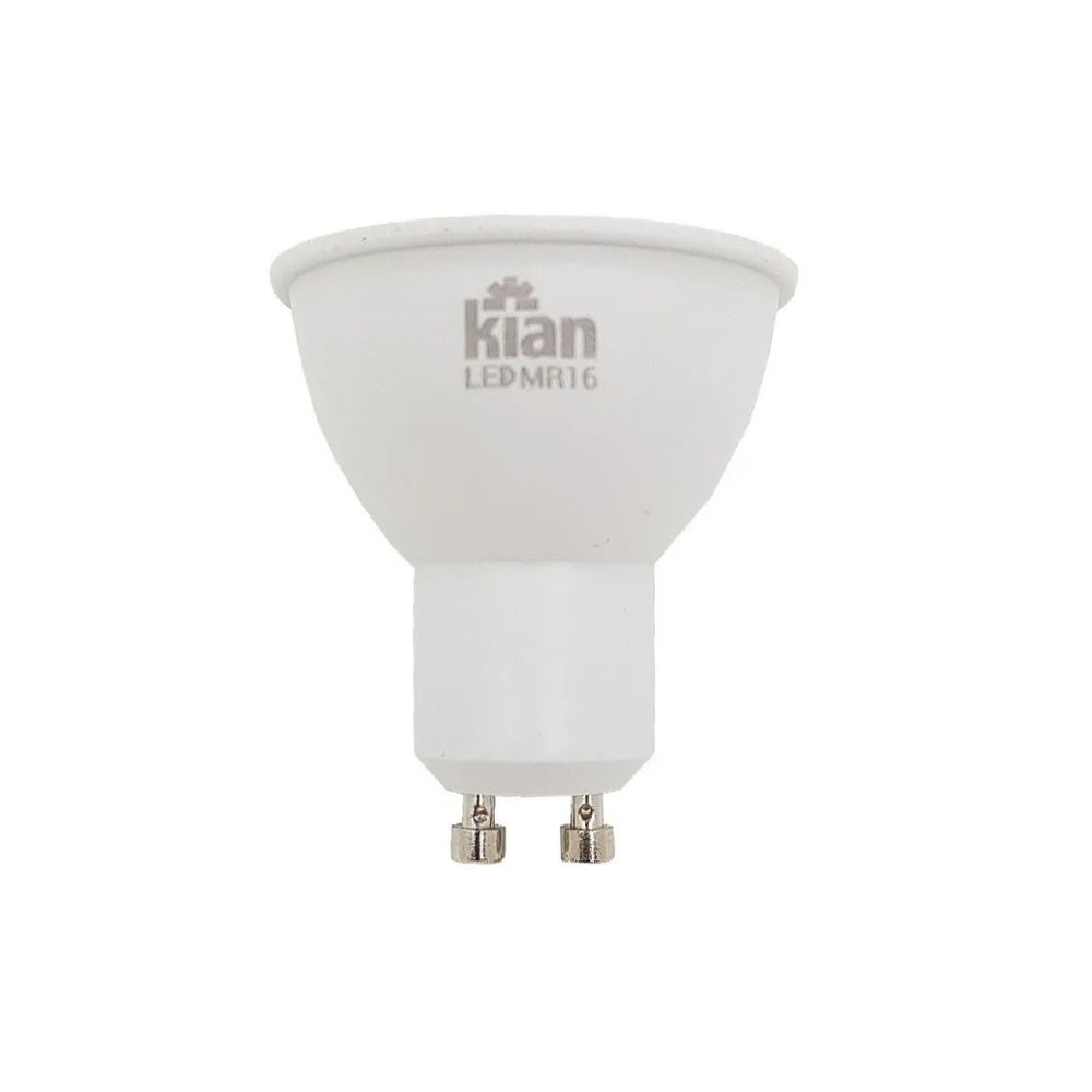 Lâmpada LED MR16 4W Branca Morna 3000K GU10 100-240V