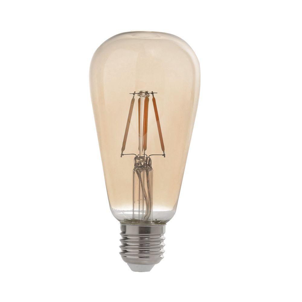 Lâmpada LED ST64 Filamento 4W 2200K E27 100-240V