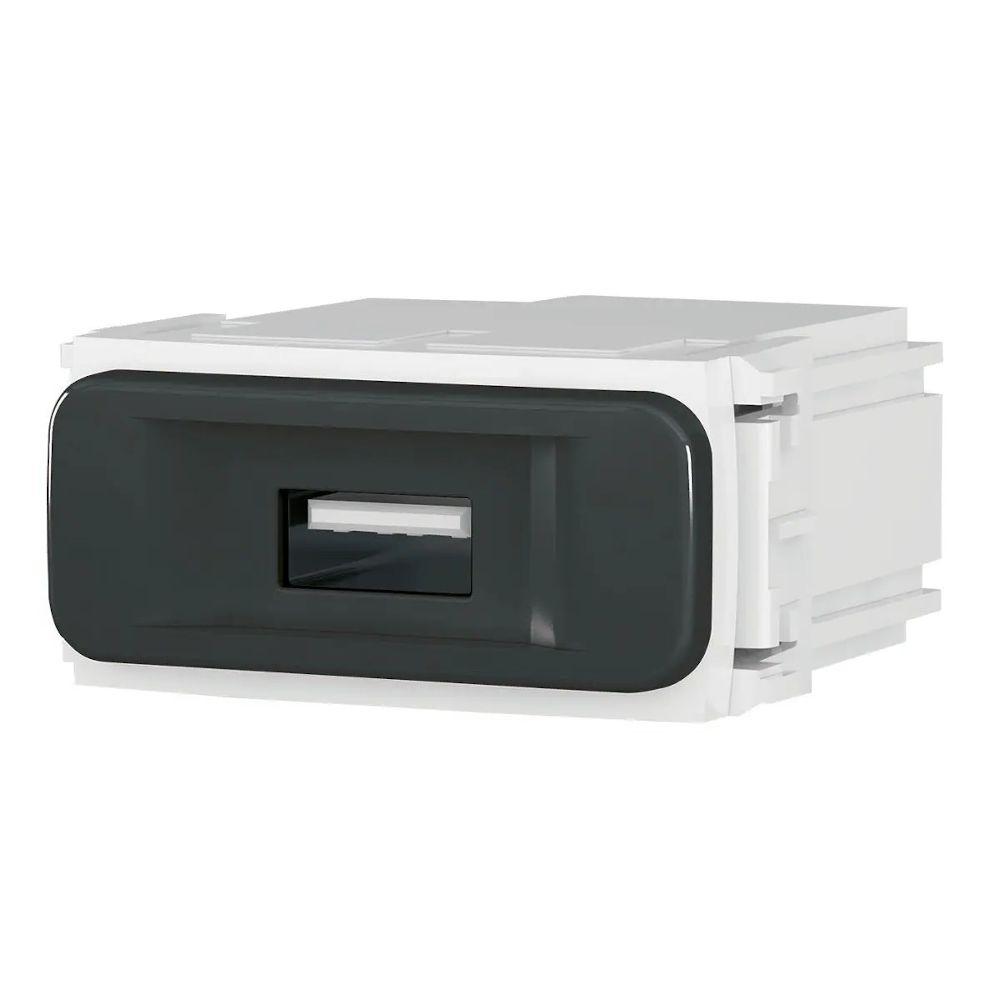 Módulo Carregador USB Bivolt PRETO COMPOSÉ