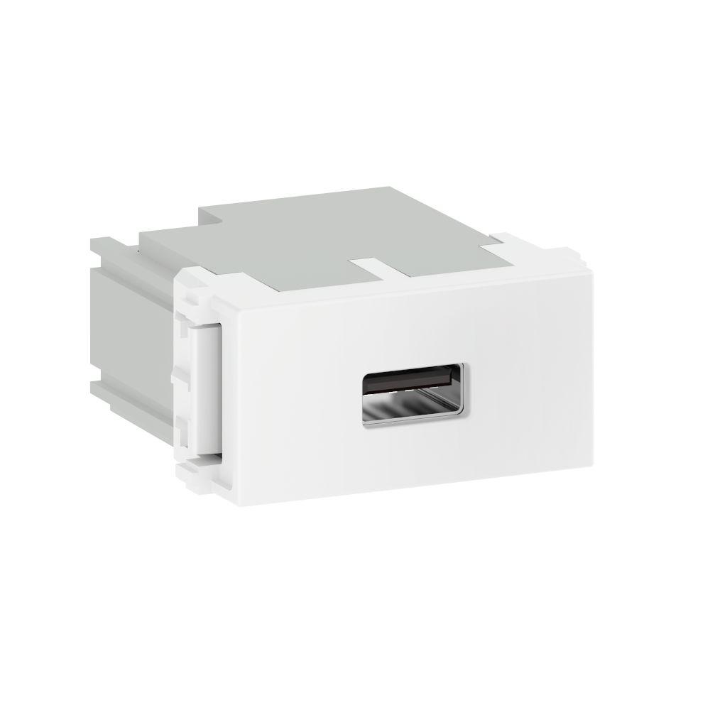 MÓDULO CARREGADOR USB BRANCO REFINATTO