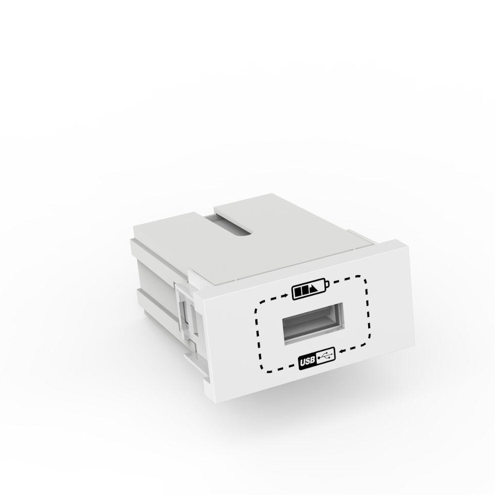 MÓDULO TOMADA CARREGADOR USB 1000MA 5W BRANCO BELEZE
