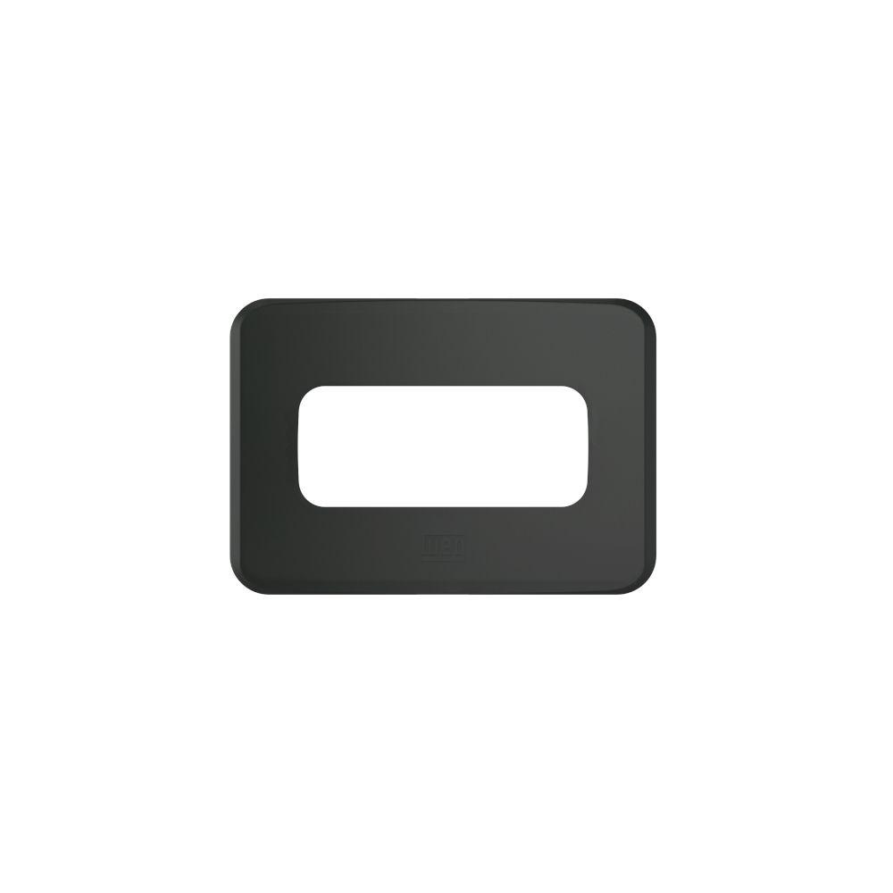 Placa de Embutir Móveis/Pedra Quadrado 2X35MMP/1Módulo PRETO COMPOSÉ