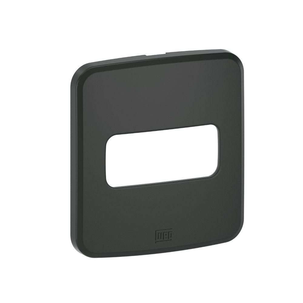 Placa de Embutir Móveis/Pedra Redondo 60MM P/1Módulo PRETO COMPOSÉ