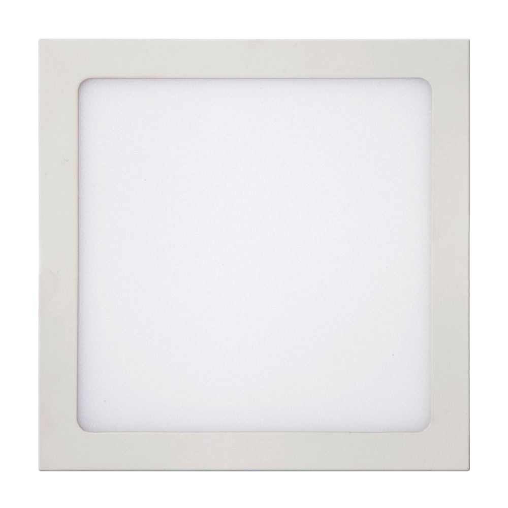 Plafon LED de Embutir 24W Branca Morna 3000K Bivolt