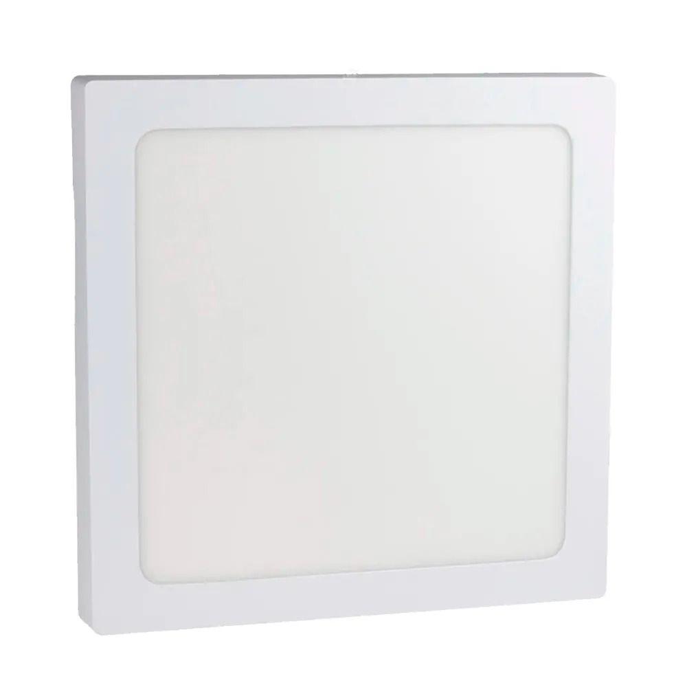 Plafon LED de Sobrepor 24W Branca Morna 3000K Bivolt