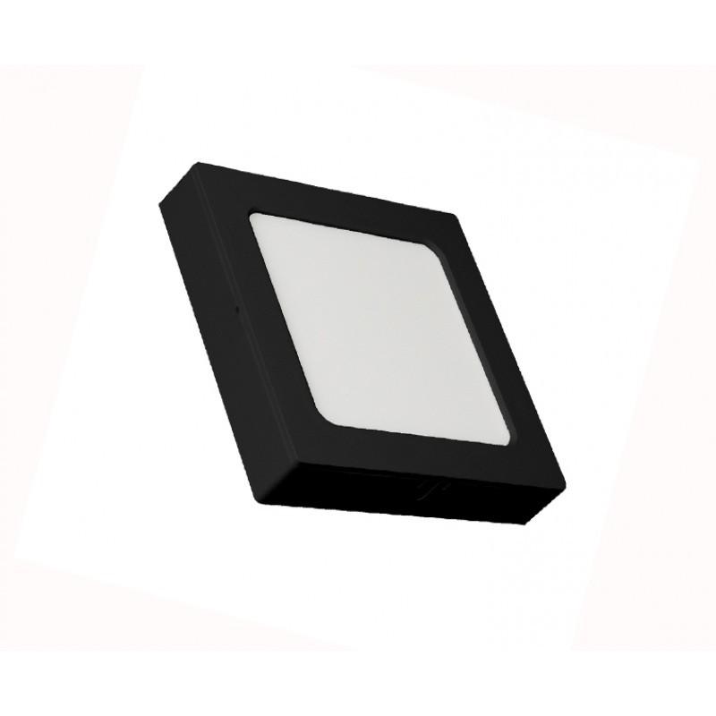 PLAFON LED QUAD SOB/EMB 12W 3000K ABS PRETO