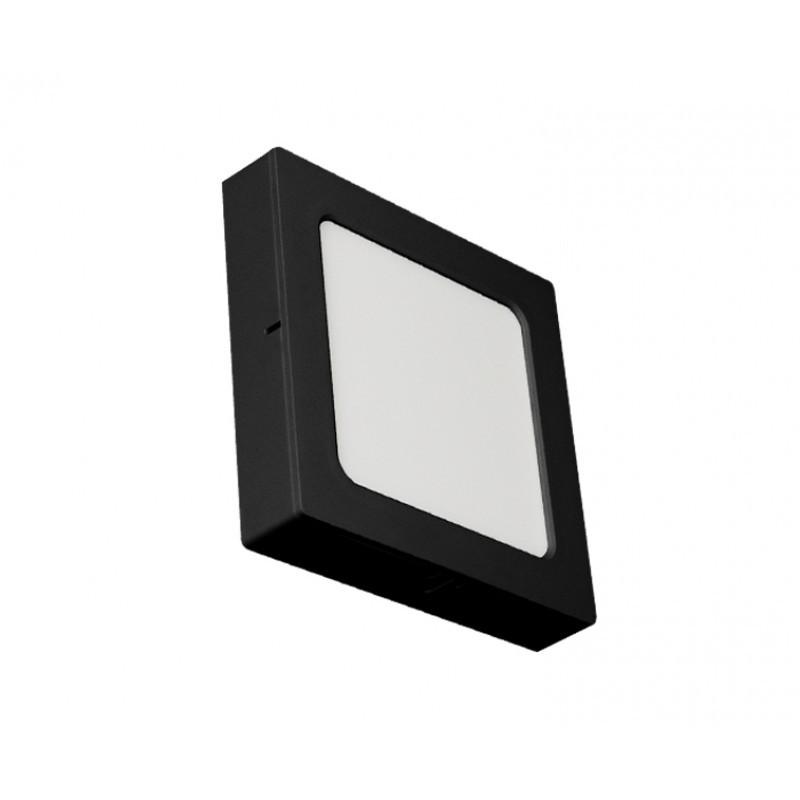 PLAFON LED QUAD SOB/EMB 12W 6500K ABS PRETO