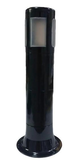 POSTE E27 60W TUBE LIGHT POLICARBONATO 40CM PRETO