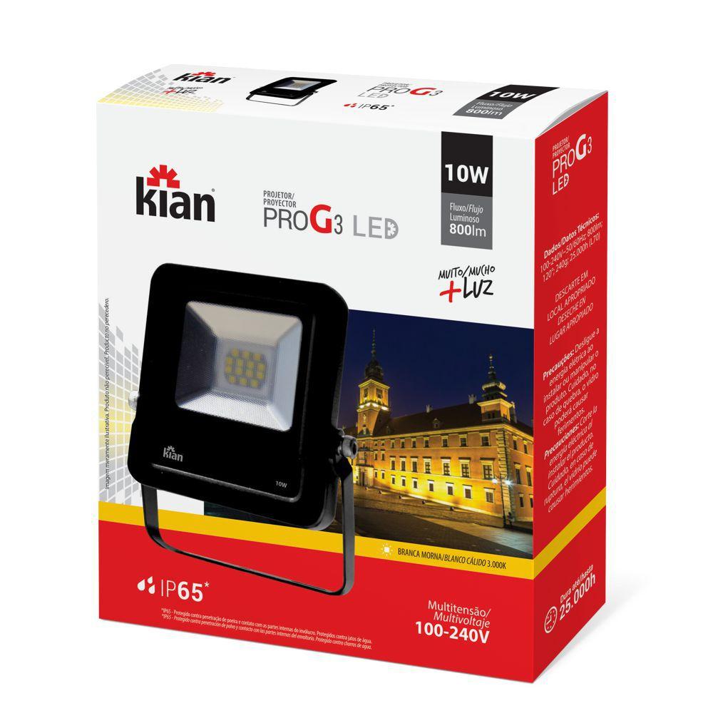 Refletor LED 10W Branca 6500K Bivolt IP65