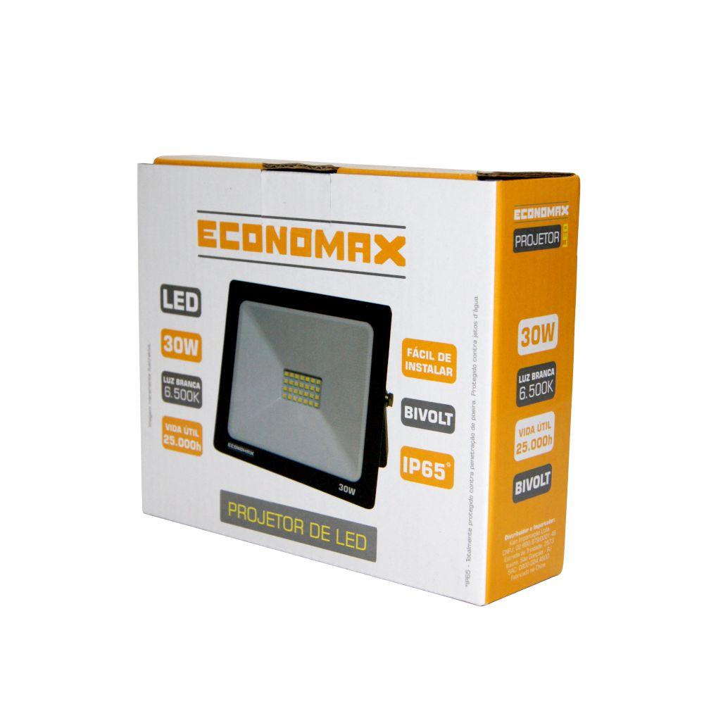 Refletor LED 30W Branca 6500K Bivolt IP65