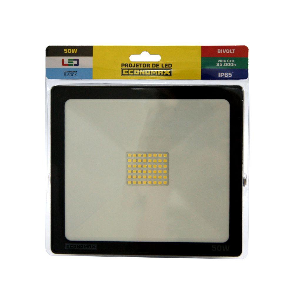 Refletor LED 50W Branca 6500K Bivolt IP65