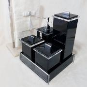 Kit Advance com 4 Potes e Bandeja para Bancadas de Banheiros e Lavabos