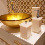Saboneteira Líquida Decor Duo para Bancadas de Banheiros e Lavabos