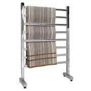 Toalheiro Térmico de Chão Simples em Inox Polido 58x93cm KESINX para Banheiros e Lavabos