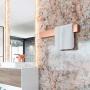 Toalheiro Térmico de Parede Flat Clean 75x12cm para Banheiros e Lavabos