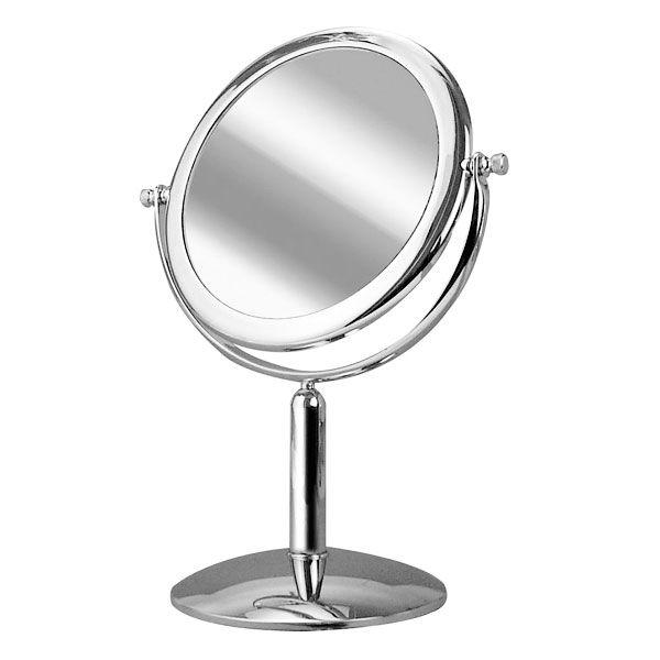 Espelho de Mesa Platine Cromado com Aumento de 5x para Maquiagem