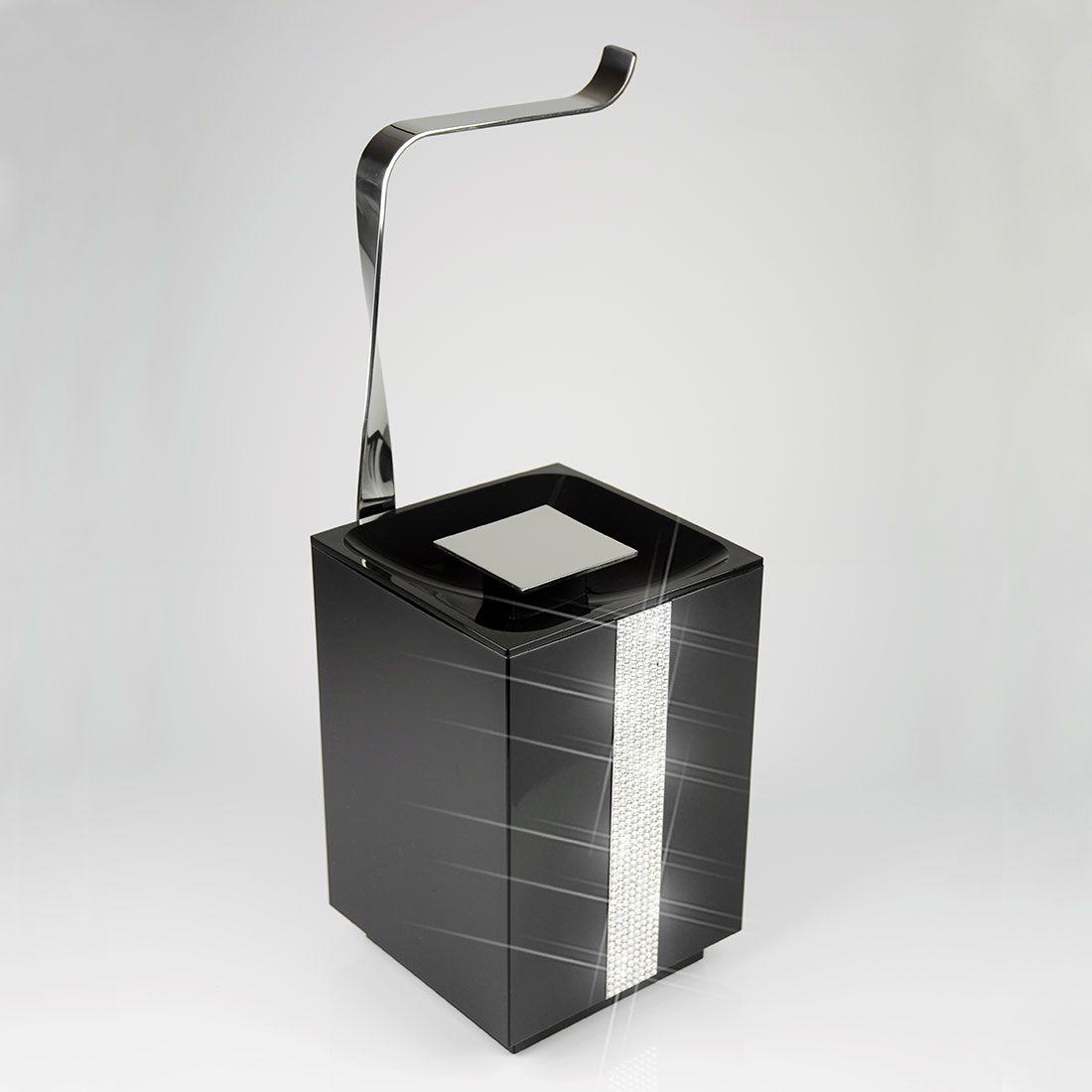 Papeleira de Chão com Lixeira 5 Litros Glam para Banheiros e Lavabos