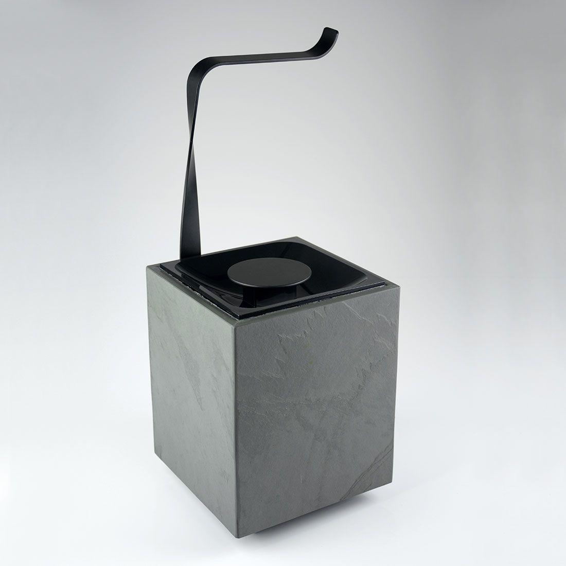 Papeleira de Chão com Lixeira 5 Litros Oriente Stone para Banheiros e Lavabos