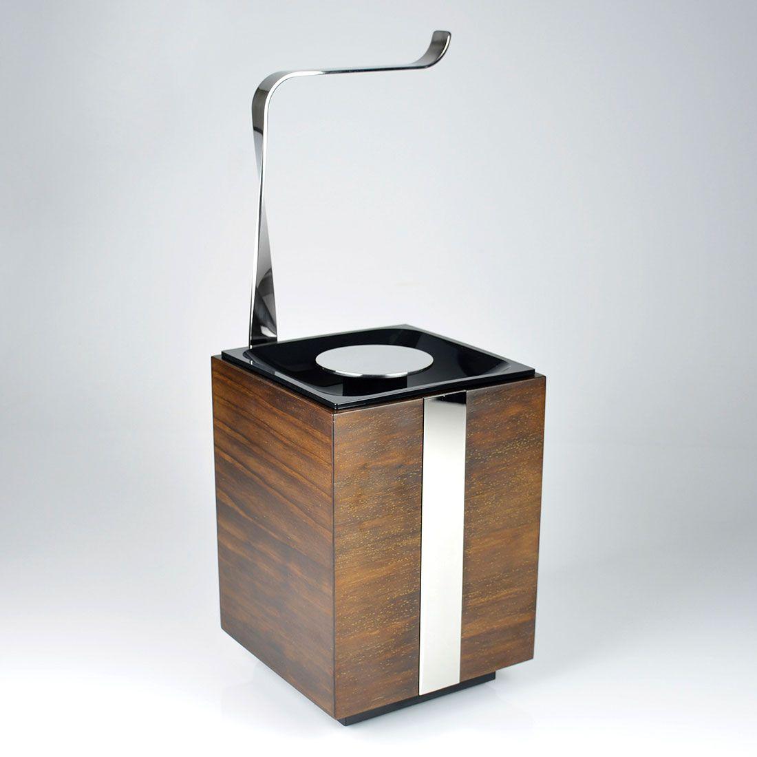 Papeleira de Chão com Lixeira 5 Litros Oriente Wood para Banheiros e Lavabos