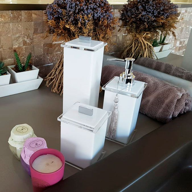 Porta Escovas Advance para Bancadas de Banheiros e Lavabos