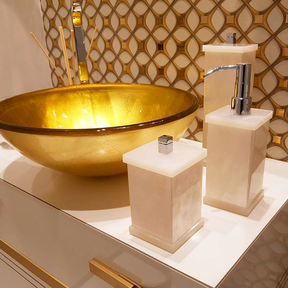 Porta Objetos Decor Duo para Bancadas de Banheiros e Lavabos