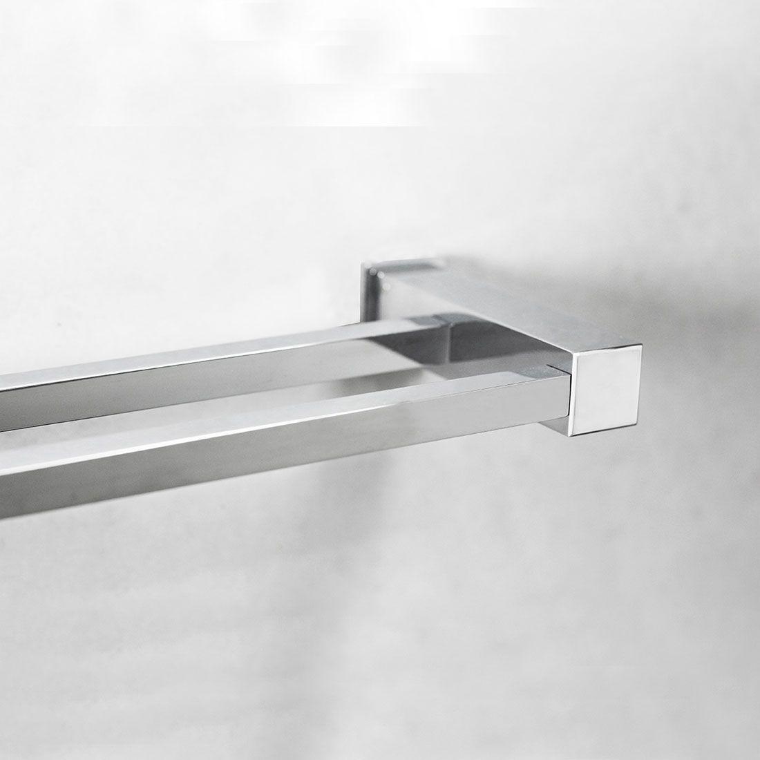 Porta Toalha Duplo 4005 com 60cm para Banheiros e Lavabos