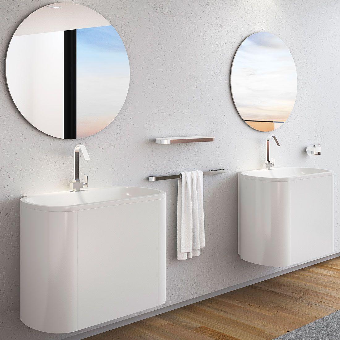 Prateleira em Acrílico Woman para Banheiros e Lavabos
