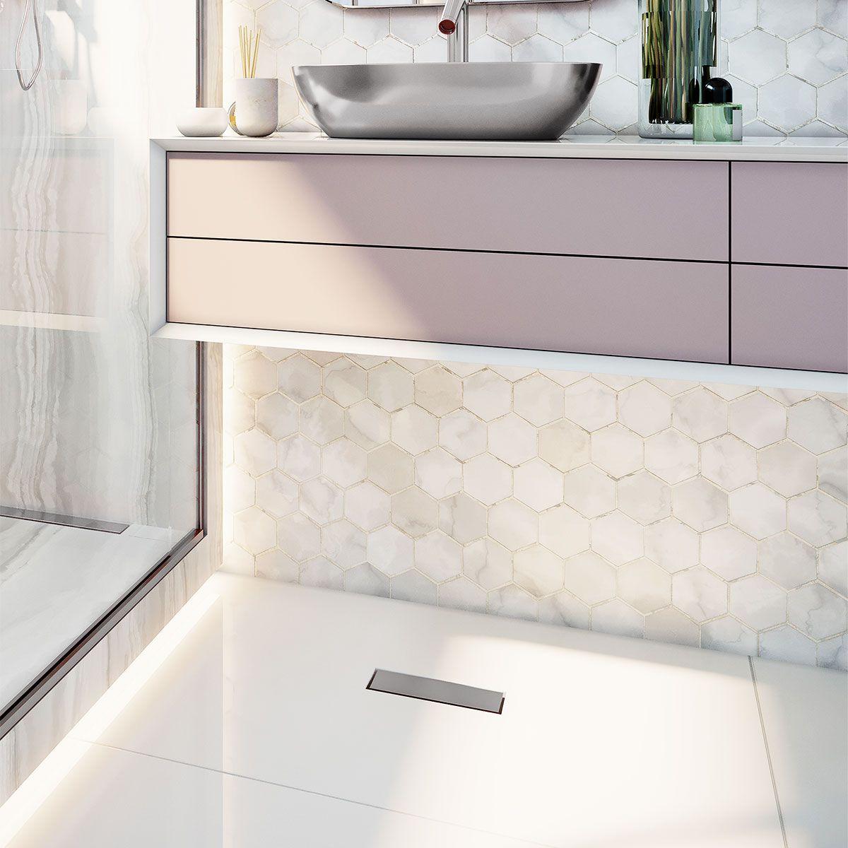 Ralo Linear Banheiro Elleve - linha Versatile