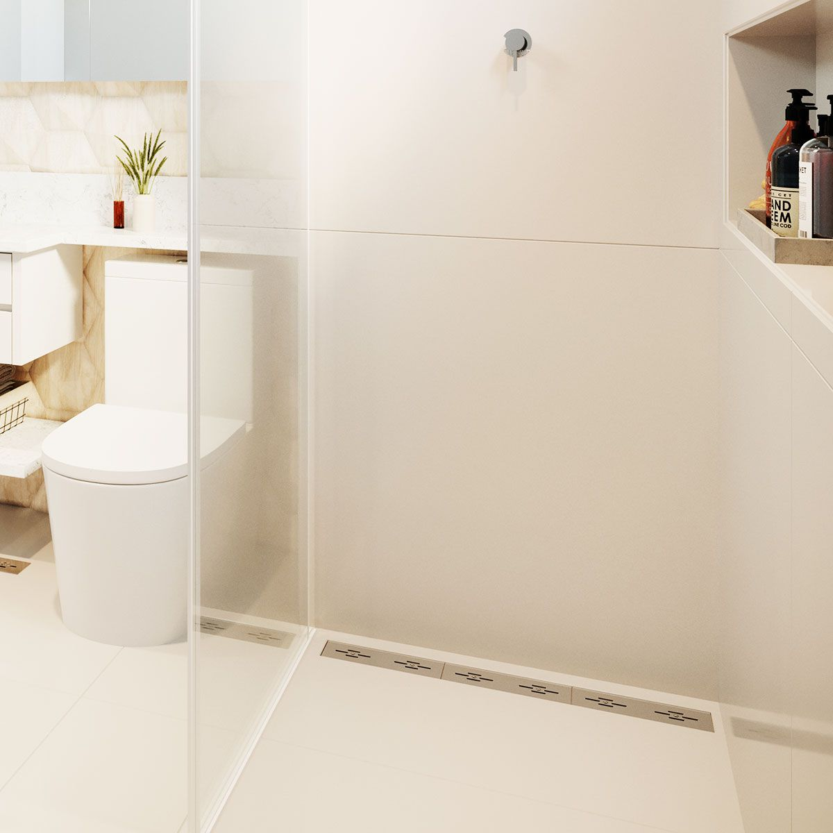 Ralo Linear Banheiro Novii 75cm PVC - Seco ou Sifonado