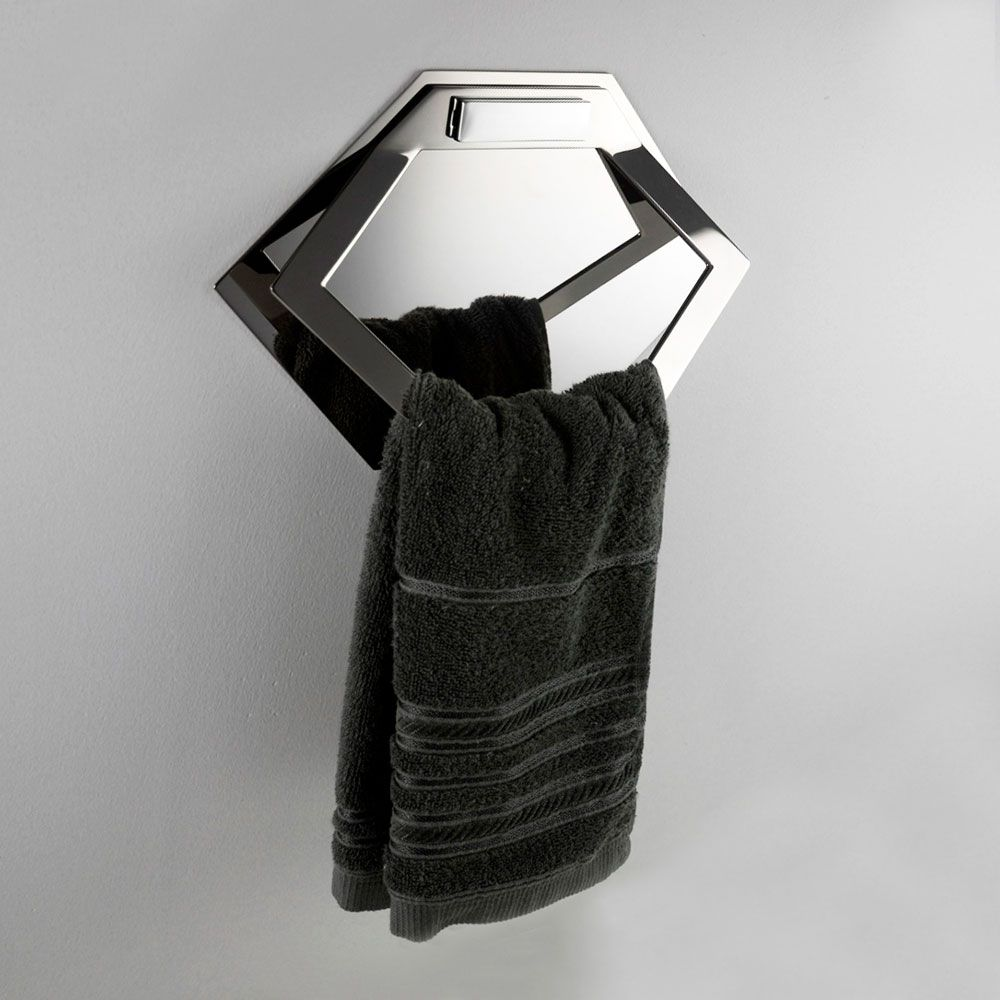 Toalheiro Argola com Módulo Elemento para Banheiros e Lavabos