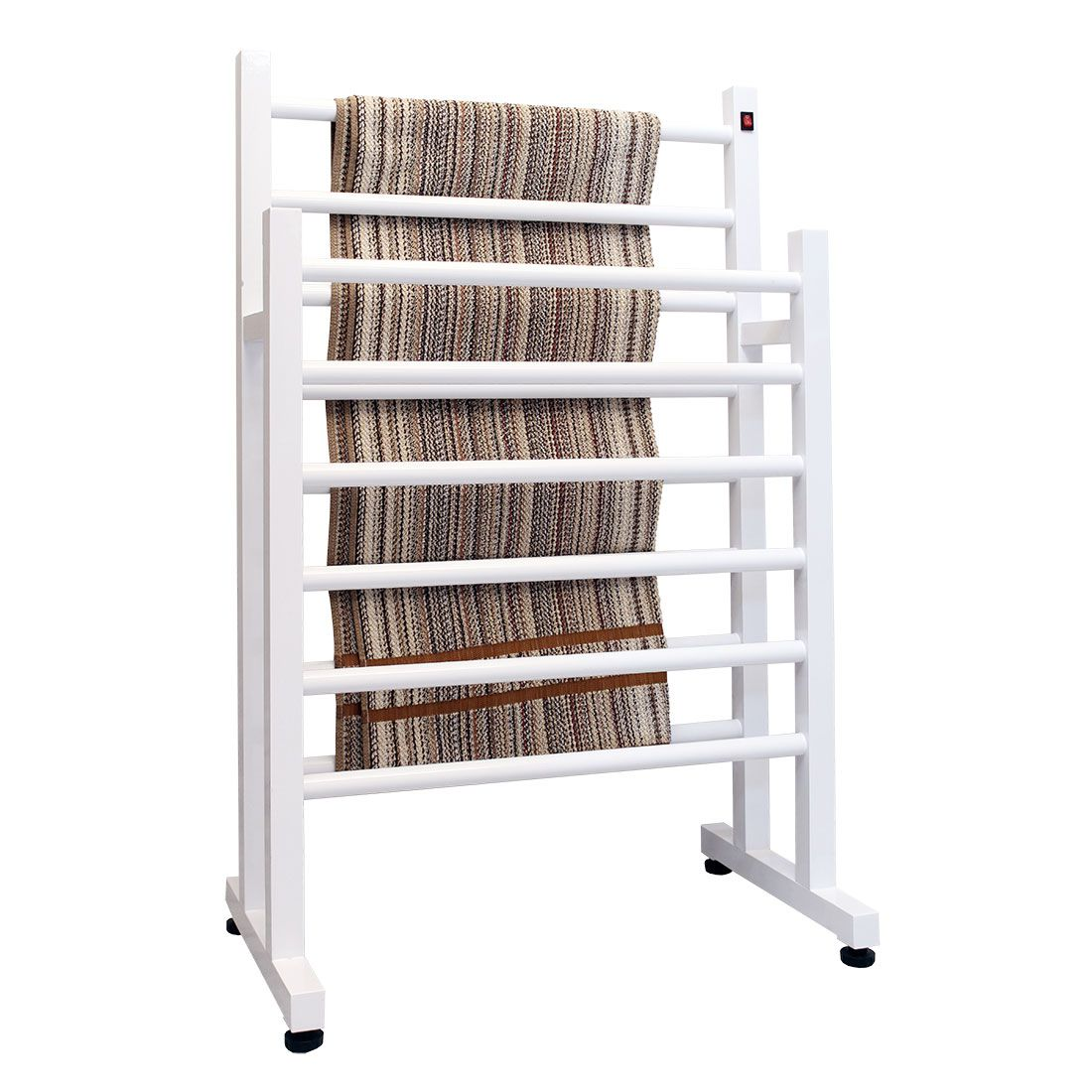 Toalheiro Térmico de Chão Duplo Branco 58x93cm KEBRDM para Banheiros e Lavabos