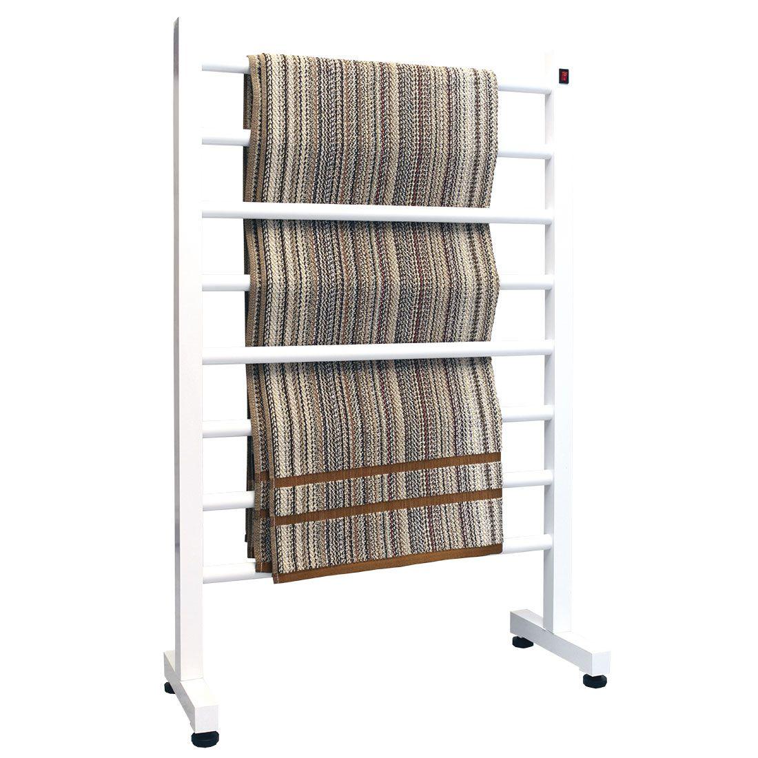 Toalheiro Térmico de Chão Simples Branco 58x93cm KEBRSM para Banheiros e Lavabos
