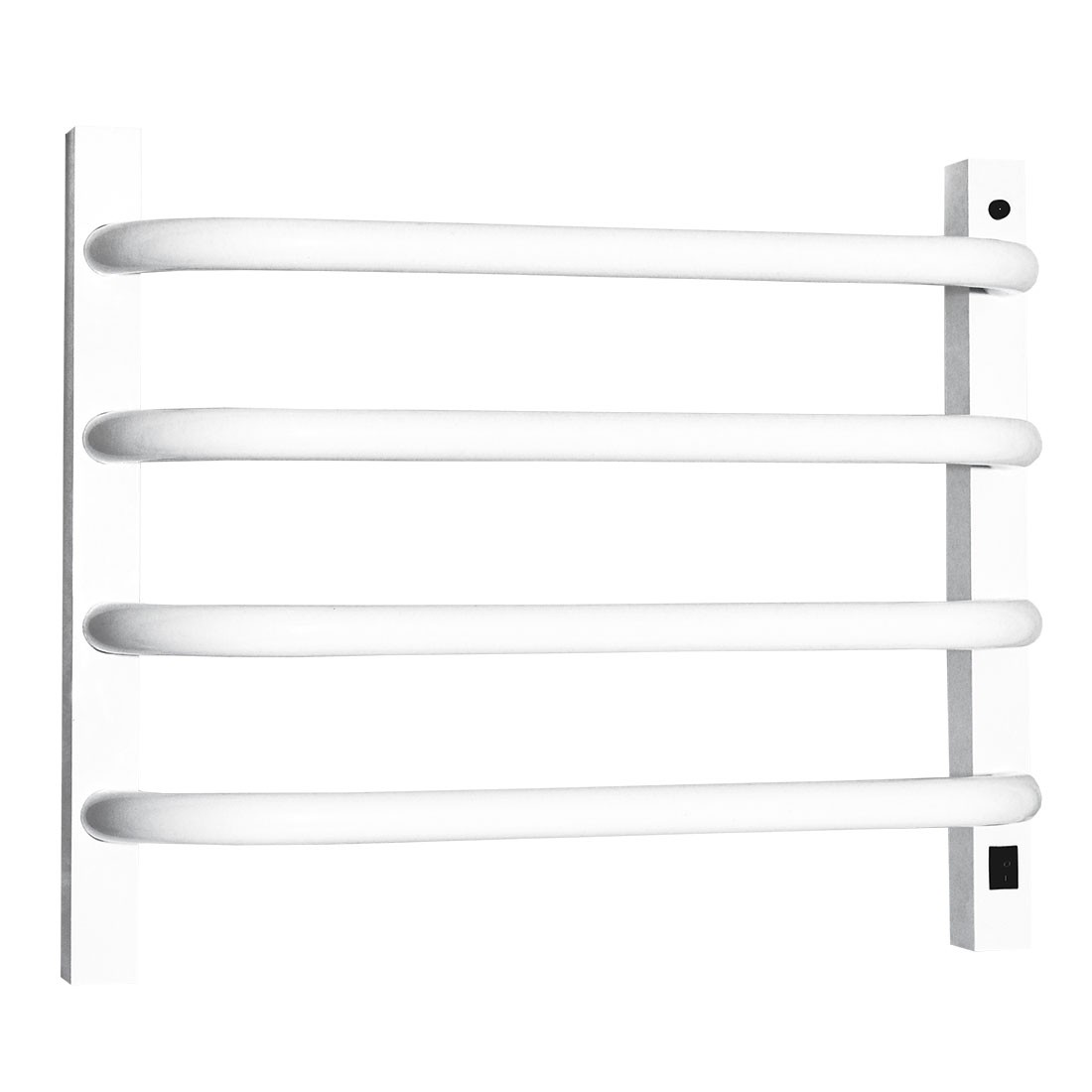 Toalheiro Térmico de Parede Branco Pequeno 39x43cm KEBRPA para Banheiros e Lavabos