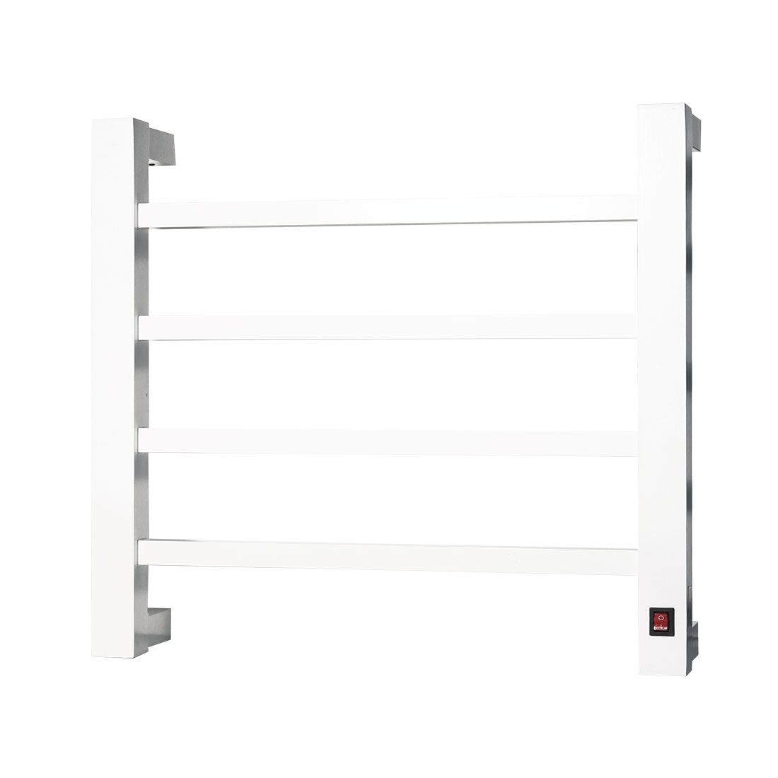 Toalheiro Térmico de Parede Branco Pequeno 42x39cm KEBRPS para Banheiros e Lavabos