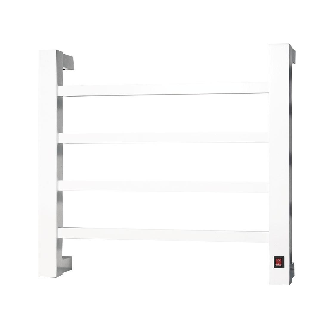Toalheiro Térmico de Parede Branco Pequeno 42x39cm KEBRPSq para Banheiros e Lavabos