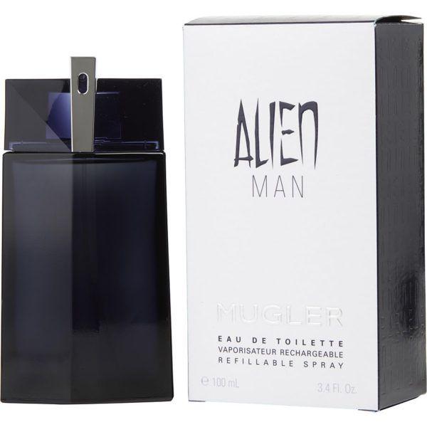 Perfume Alien Man Refillable Mugler Eau de Toilette Masculino 100ml