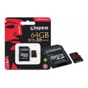 Cartão de Memória Kingston SDCR/64G - com adaptador