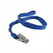 Cordão para Crachá em Poliéster Azul - 10 unidades