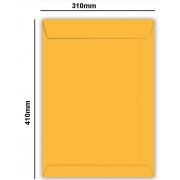 Envelope Saco Kraft Ouro 80gr 310x410 - Caixa com 250 unidades