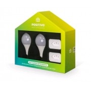 Kit Casa Inteligente Positivo WiFi - 2 Lâmpadas + 2 Plugs