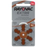Kit Pilhas Auditiva Rayovac Tamanho 312 - PR41 - 60 und