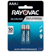 Pilha AAA Alcalina Rayovac - 2 unidades