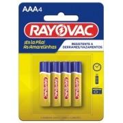 Pilha AAA Zinco Rayovac Amarelinha com 4 unidades