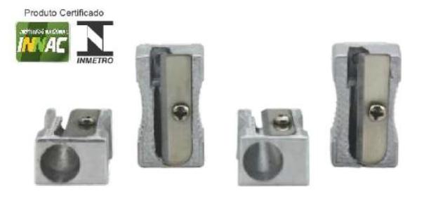 Apontador de Metal - 1 Furo - Caixa 48 unidades