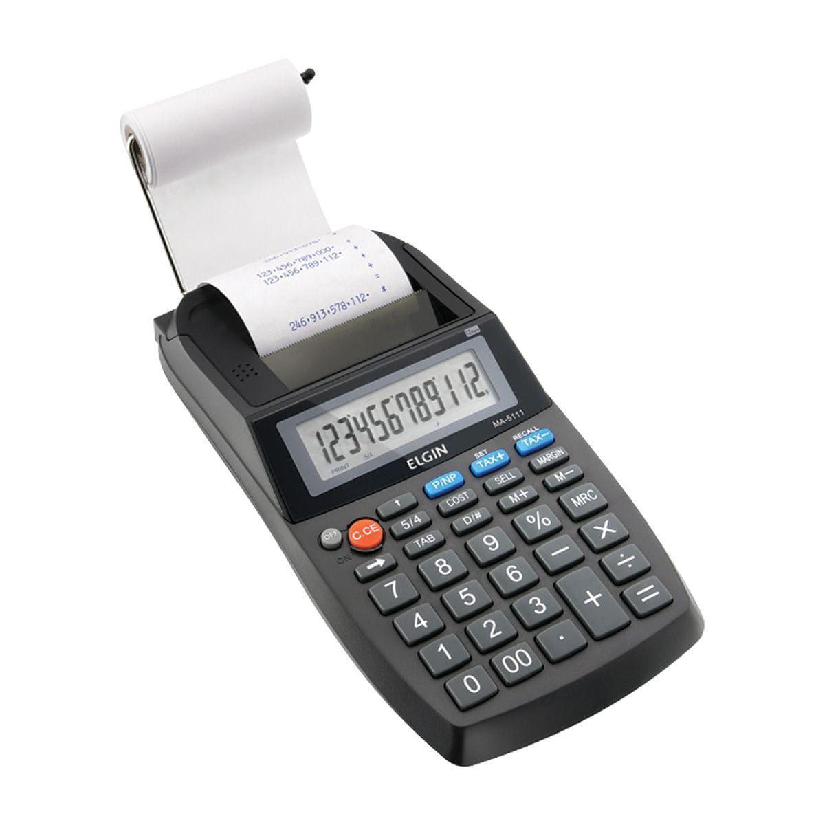 Calculadora com bobina 12 dígitos MA-5111 + Fonte Bivolt