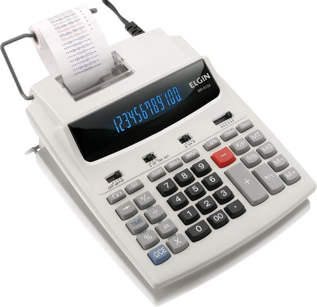 Calculadora com bobina 12 dígitos, MR-6124