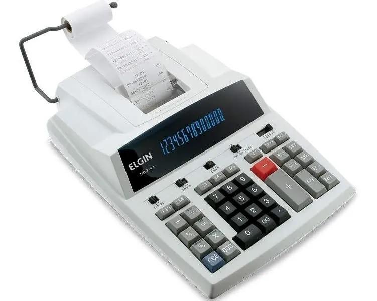 Calculadora com bobina 14 dígitos, impressão bicolor, MB-7142